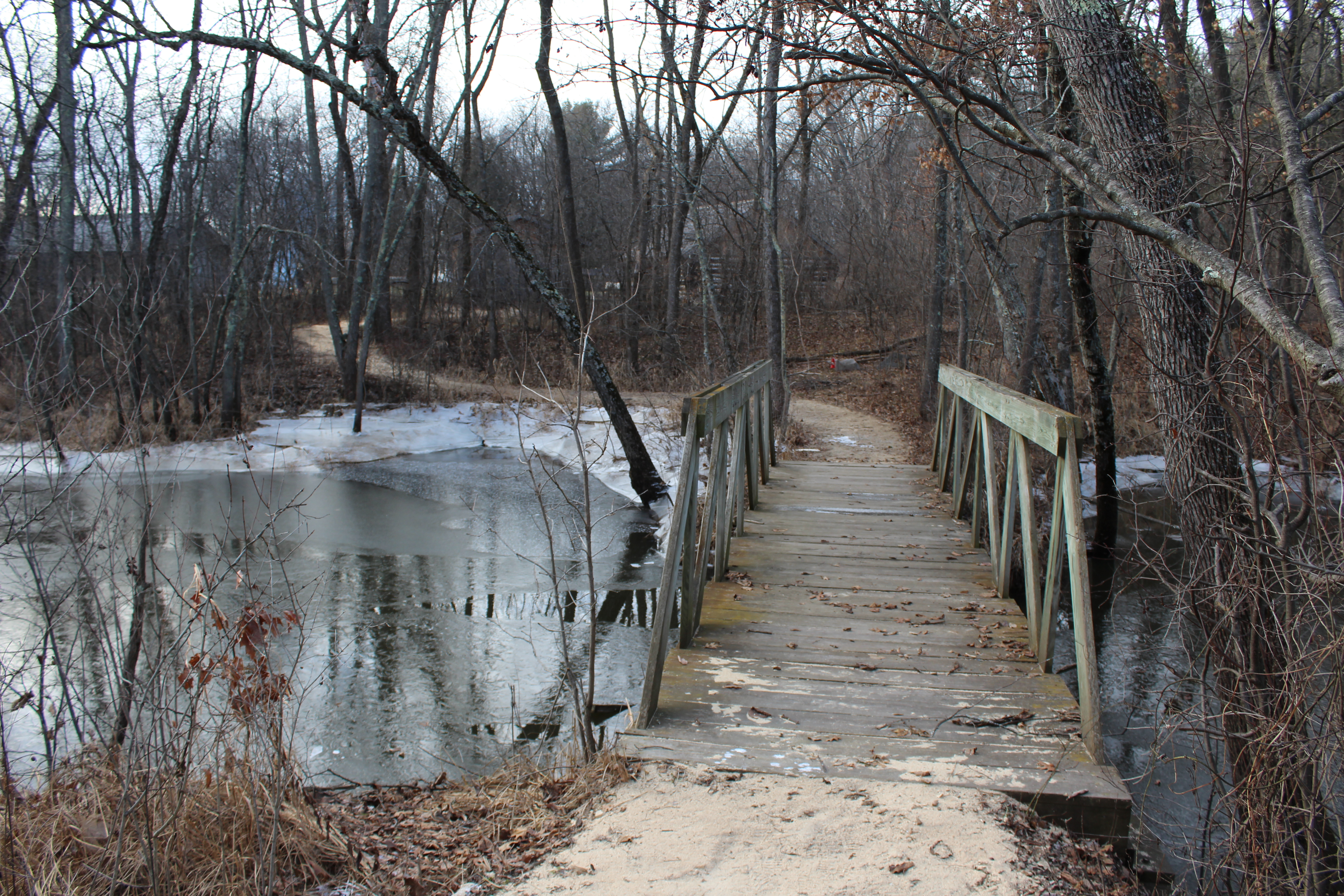 A wooden bridge leads the way to the Wakely house site at the Historic Point Basse. (City Times Photo)