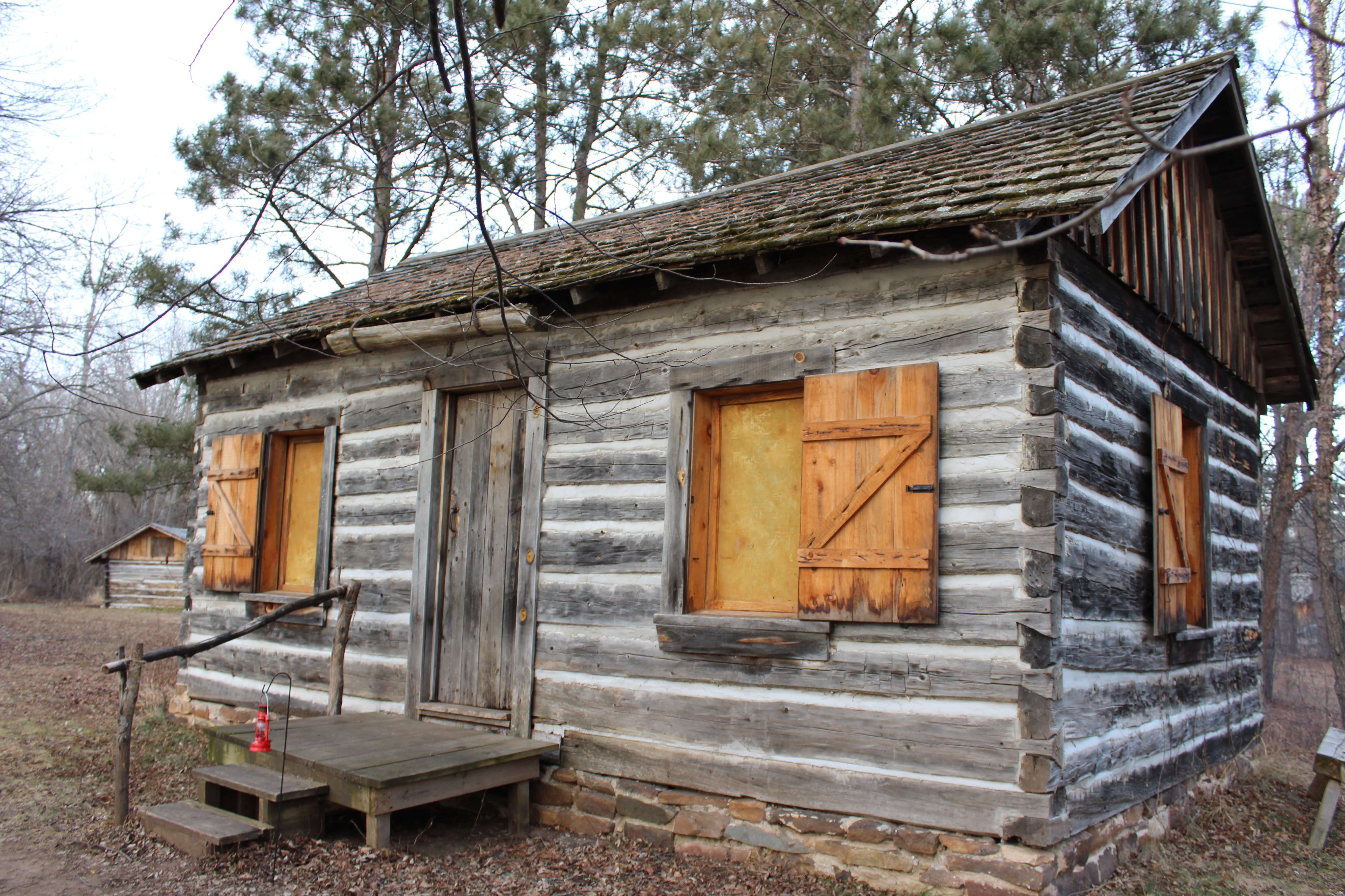 One of many cabins on the Historic Point Basse site. (City Times Photo)