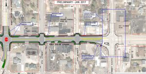 Further plans for the E. Grand Ave. Project. (Courtesy: City of Wisconsin Rapids.)
