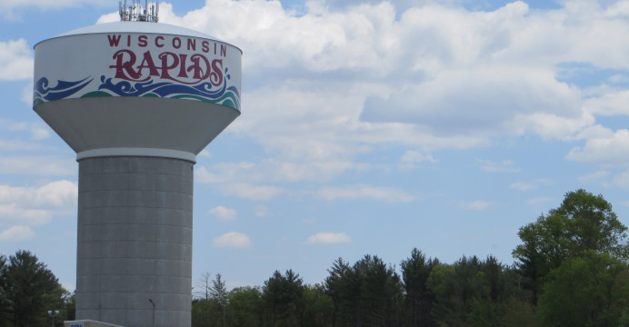 The Wisconsin Rapids water tower