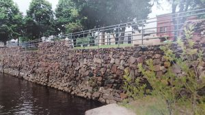 The riverwall by Veterans Park. (Photo: City of Wisconsin Rapids)
