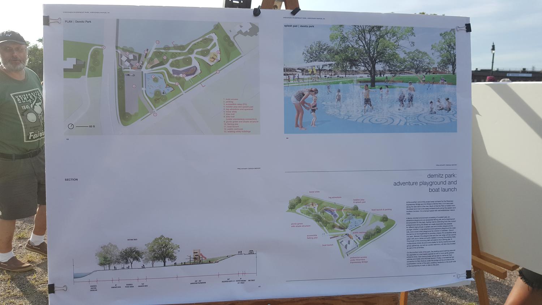 Conceptual designs for Demitz Park. (City Times Photo)