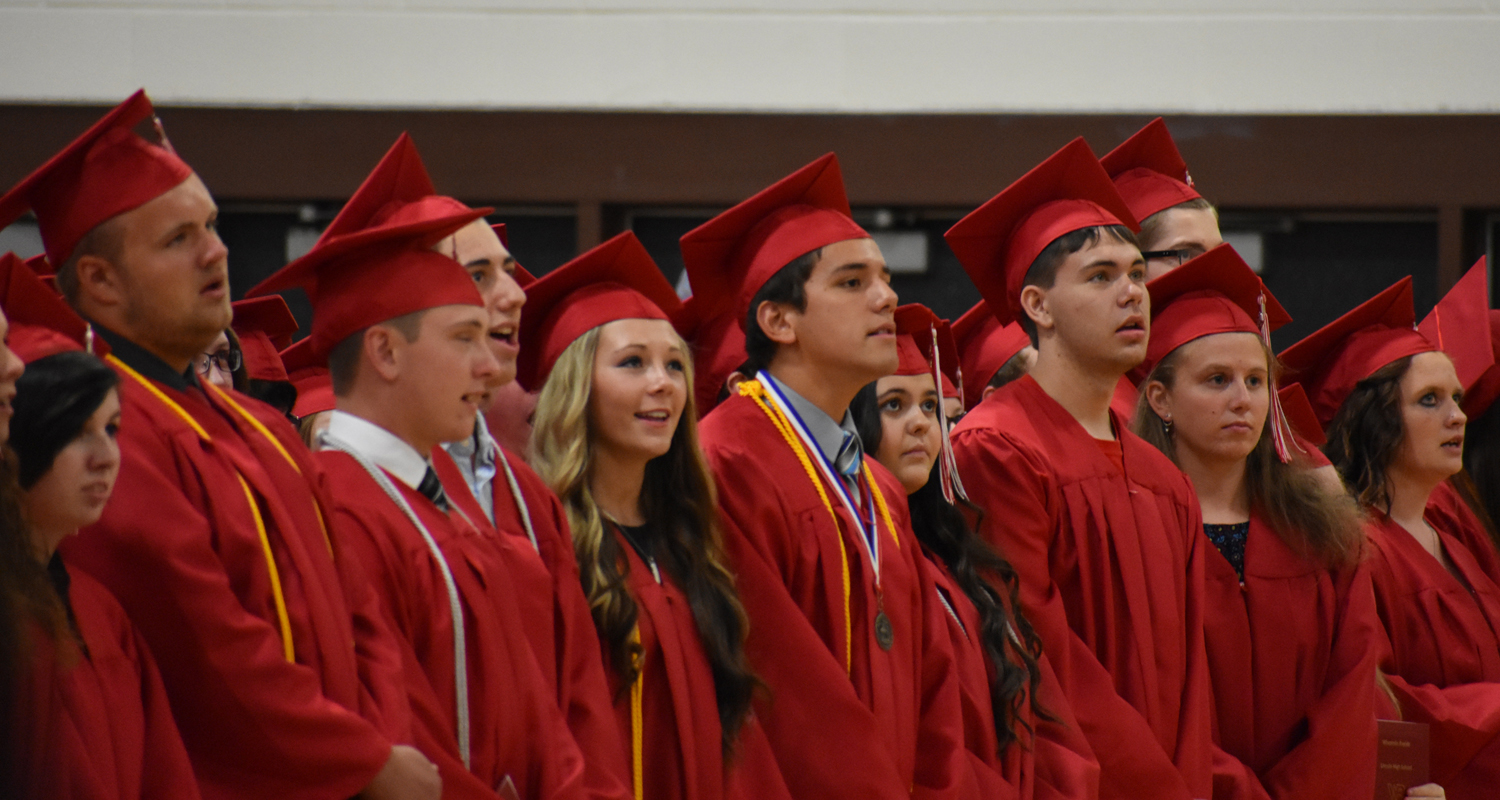 Students singing the Lincoln High School Alma Mater. (City Times Photo)