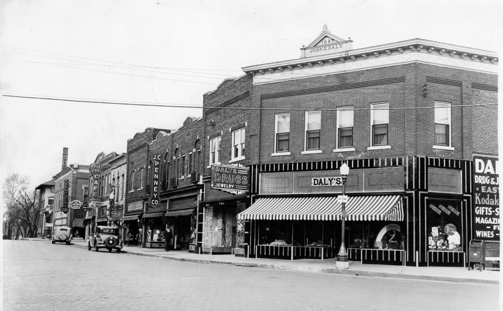 J.C. Penney's on the Daly Block, circa 1930 (Photo: South Wood Co. Historical Corporation)